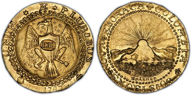 Brasher Doubloon EB on Breast 1787